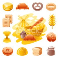 Bread,Food,Symbol,Pasta,Com...