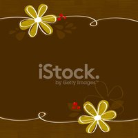 Brown floral background