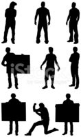 Silhouette,Men,Macho,Muscul...