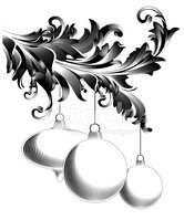 Christmas,Engraving,Black A...