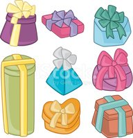 Gift,Cartoon,Box - Containe...