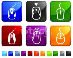 Computer Mouse,Icon Set,Squ...