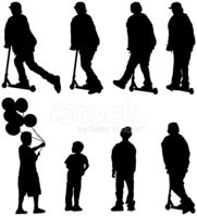 Silhouette,Child,Teenager,B...