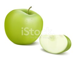 Apple - Fruit,Slice,Green C...