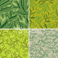 Seamless,Pattern,Leaf,Plant...