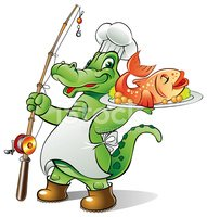 Alligator,Chef,Fisherman,Re...