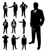 Businessman silhouette.