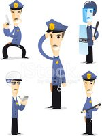 Police Force,Officer,Cartoo...