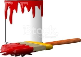 Can,Paint,Spilling,Pouring,...