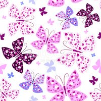 Butterfly - Insect,Purple,W...