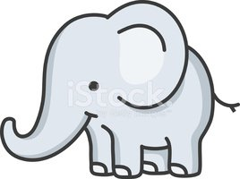 baby olifant / cartoon