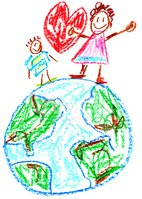 Child,Child's Drawing,Earth...