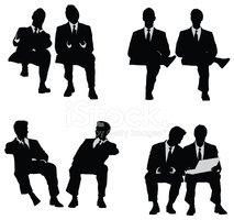 Sitting,Silhouette,Men,Peop...