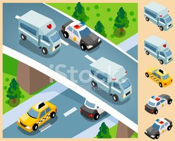 Isometric,Police Force,Taxi...