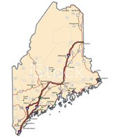 Maine,Map,Highway,Road,Vec...