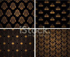 Pattern,Gold Colored,Seamle...