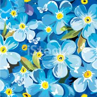 Pattern,Forget-Me-Not,Flowe...