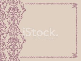 Seamless pattern and decorative frame