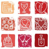 Heart Shape,Love,Icon Set,G...