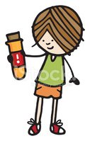 Boy holding a test tube