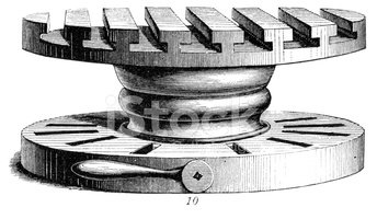 Machinery,Engraved Image,Wo...