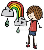 Rainbow,Rain,Child's Drawin...