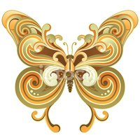Butterfly - Insect,Retro Re...