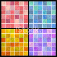 Mosaic,Backgrounds,Vector,A...