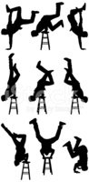 Silhouette,Acrobat,People,H...