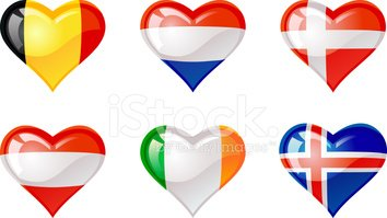 Heart Shape,Flag,Denmark,Ic...