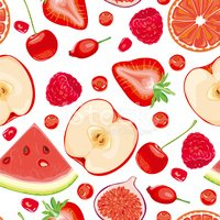 Fruit,Watermelon,Pattern,Se...