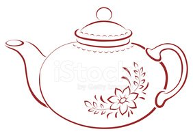 Teapot,Tea - Hot Drink,Outl...