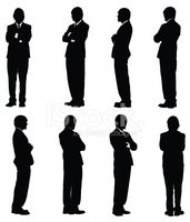 Silhouette,Businessman,Stan...
