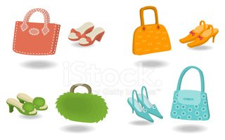Fashion Bags With Shoes Stock Vectors Clipartme