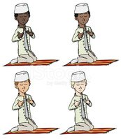 Islam,Praying,Child,Middle ...