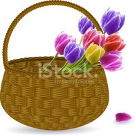 Basket,Flower,Wicker,Blosso...