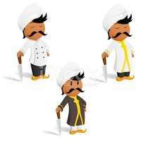 Indian Culture,Chef,Turban,...