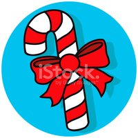 candy cane with bow icon