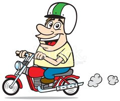 Motorcycle,Cartoon,Work Hel...
