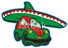 Mexico,Car,Sombrero,Cartoon...