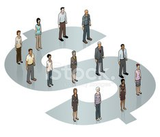 People,Isometric,Finance,Wa...