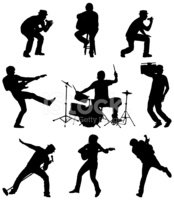Musical Band,Silhouette,Roc...