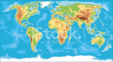 Physical world map stock vectors clipart physical world map gumiabroncs Gallery
