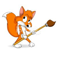 Fox,Cartoon,Tail,Ilustrati...