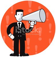 Megaphone,Presenter,Shoutin...