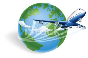Airplane,Globe - Man Made O...