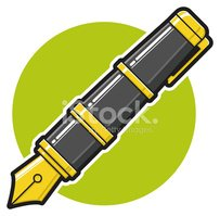 Pen,Fountain Pen,Cartoon,Ve...