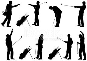 Golf,Silhouette,Businessman...