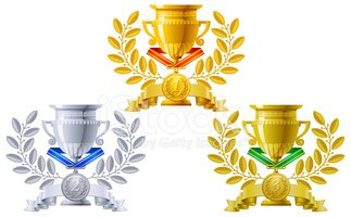 Trophy,Medal,Award Ribbon,A...