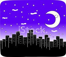 Urban Skyline,Night,City,Mo...